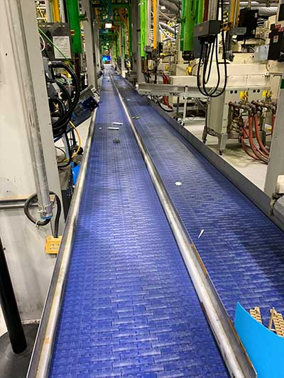 Reject Line Plastic Conveyor Belt