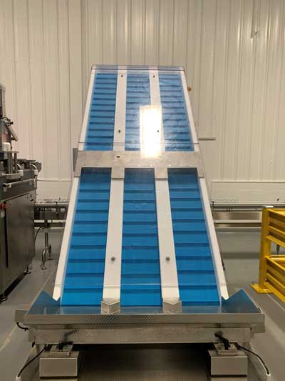 Blue Thermoplastic Cleated Z Conveyor